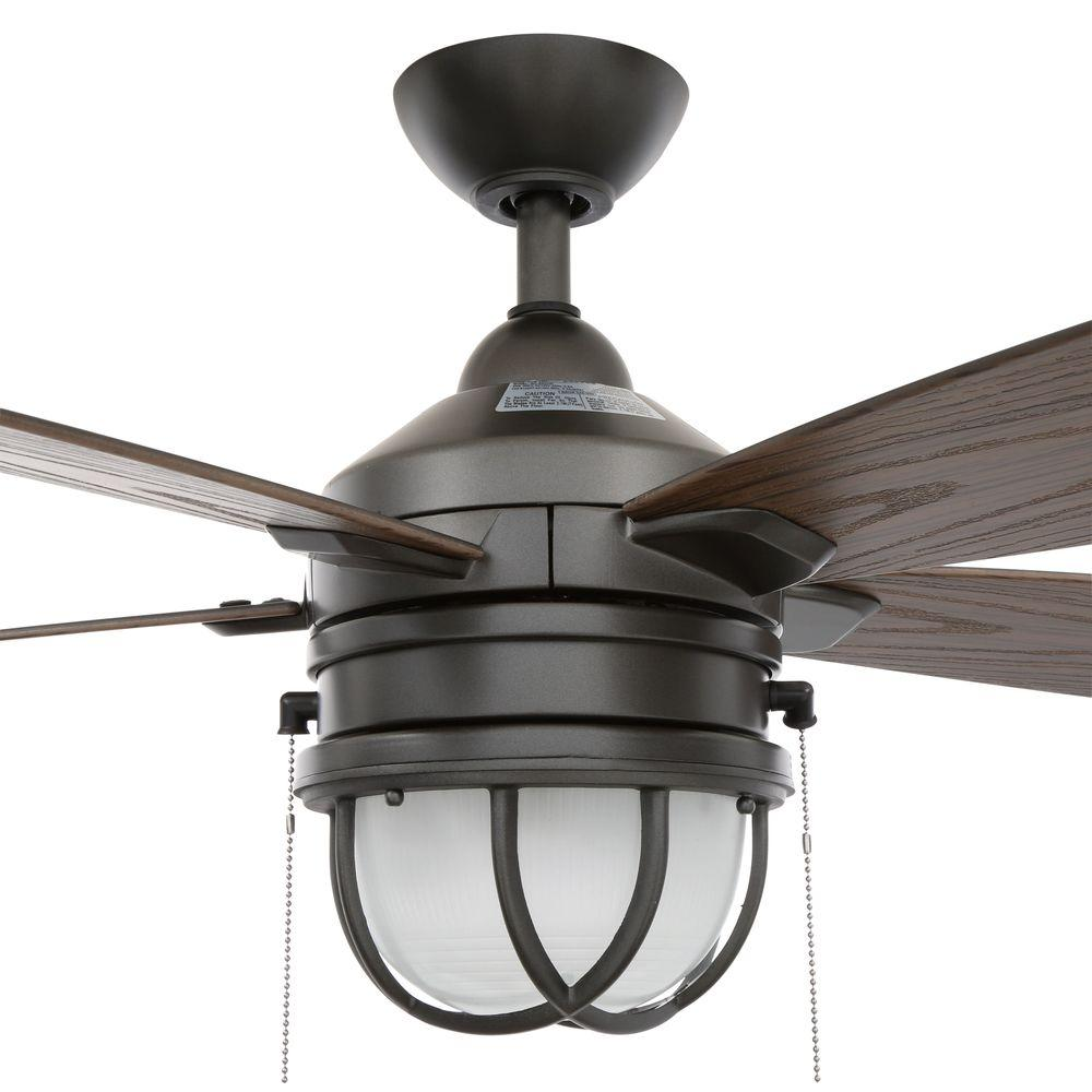 "52"" Ceiling Fan LED Light Indoor Outdoor Home Office"