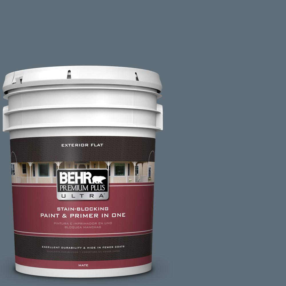 BEHR Premium Plus Ultra 5-gal. #N480-6 NYPD Flat Exterior Paint