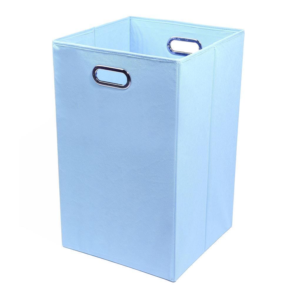 Sky Solid Baby Blue Folding Laundry Basket