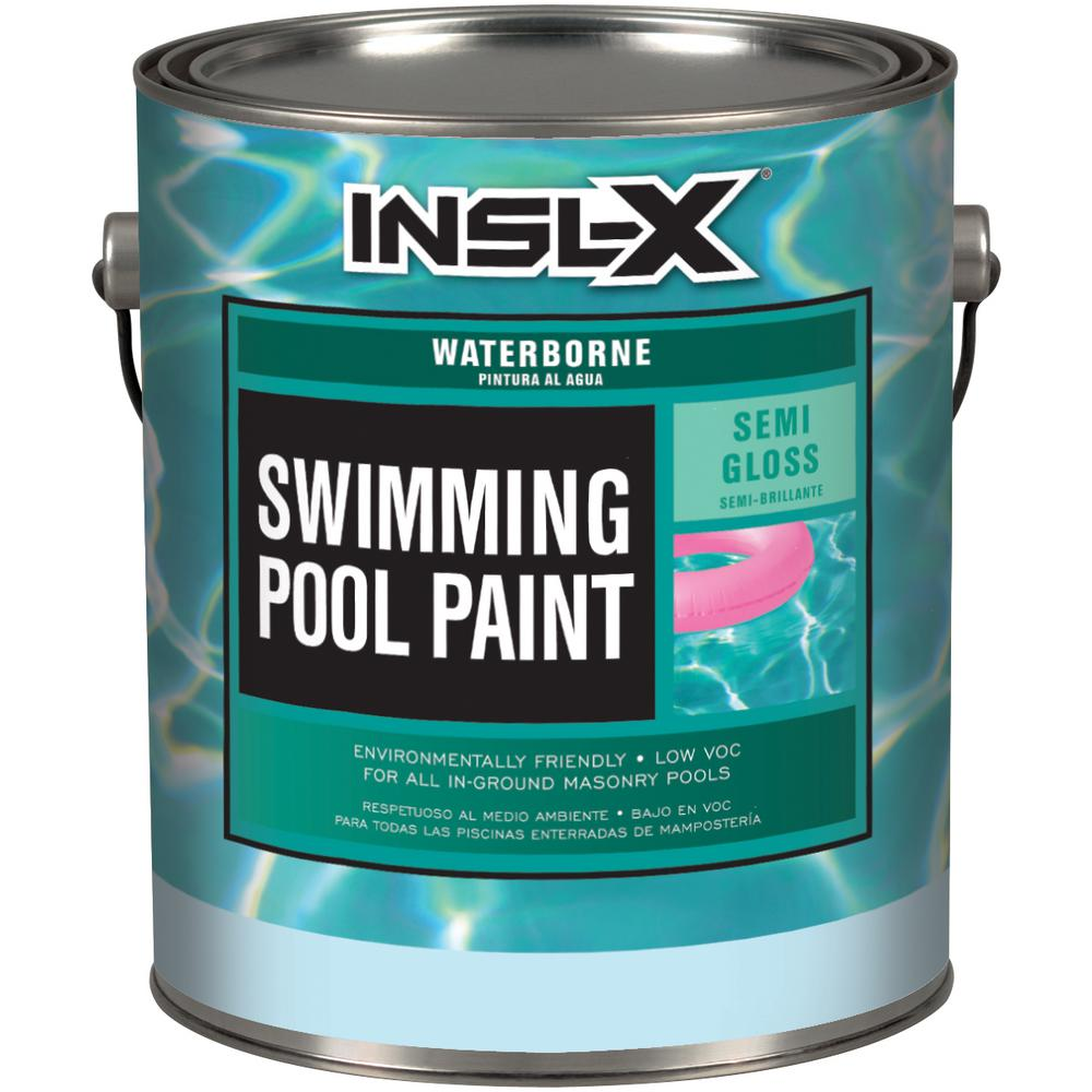 InslX Insl-X 1 gal. Semi-Gloss Water White Swimming Pool Paint