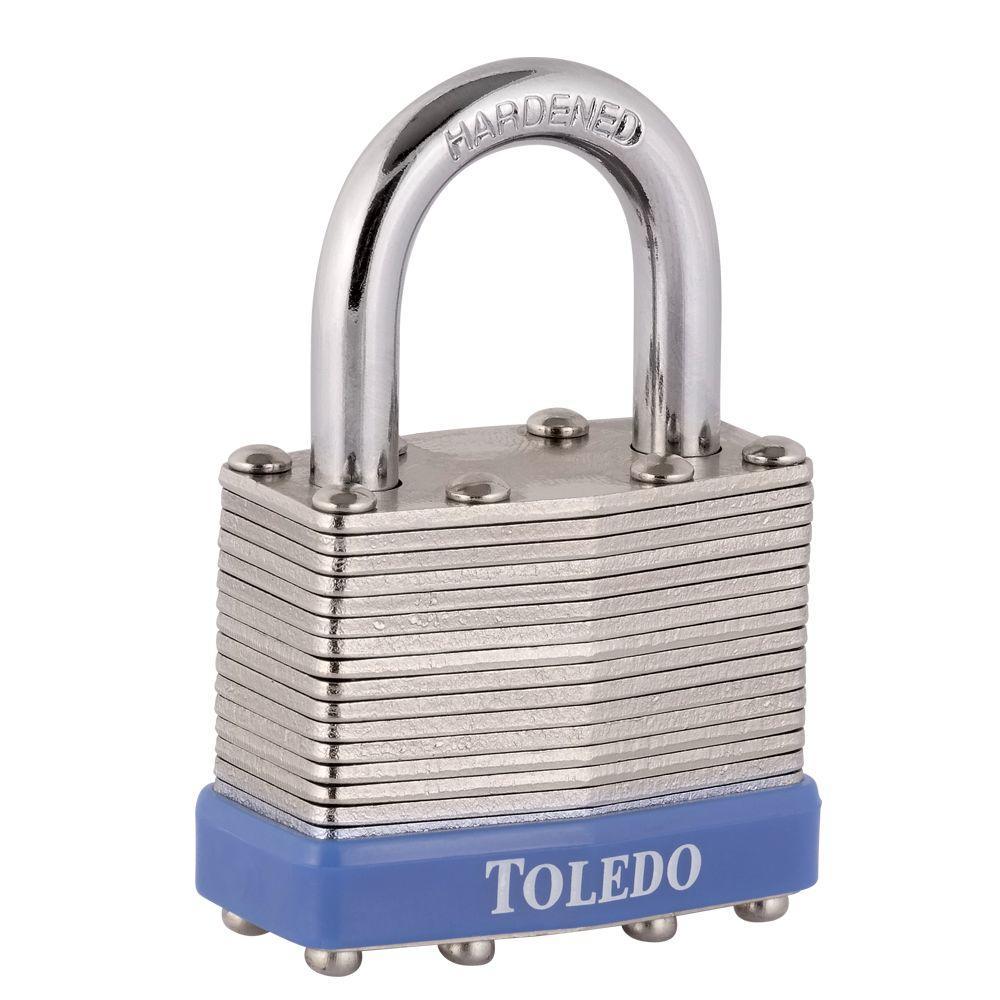 "Toledo Fine Locks Laminated Padlock 40MM (1 1/2"")DOUBLE LOCK SYSTEM"