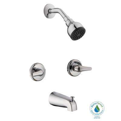 Aragon 2 Handle 1 Spray Tub And Shower Faucet In Chrome (Valve Included