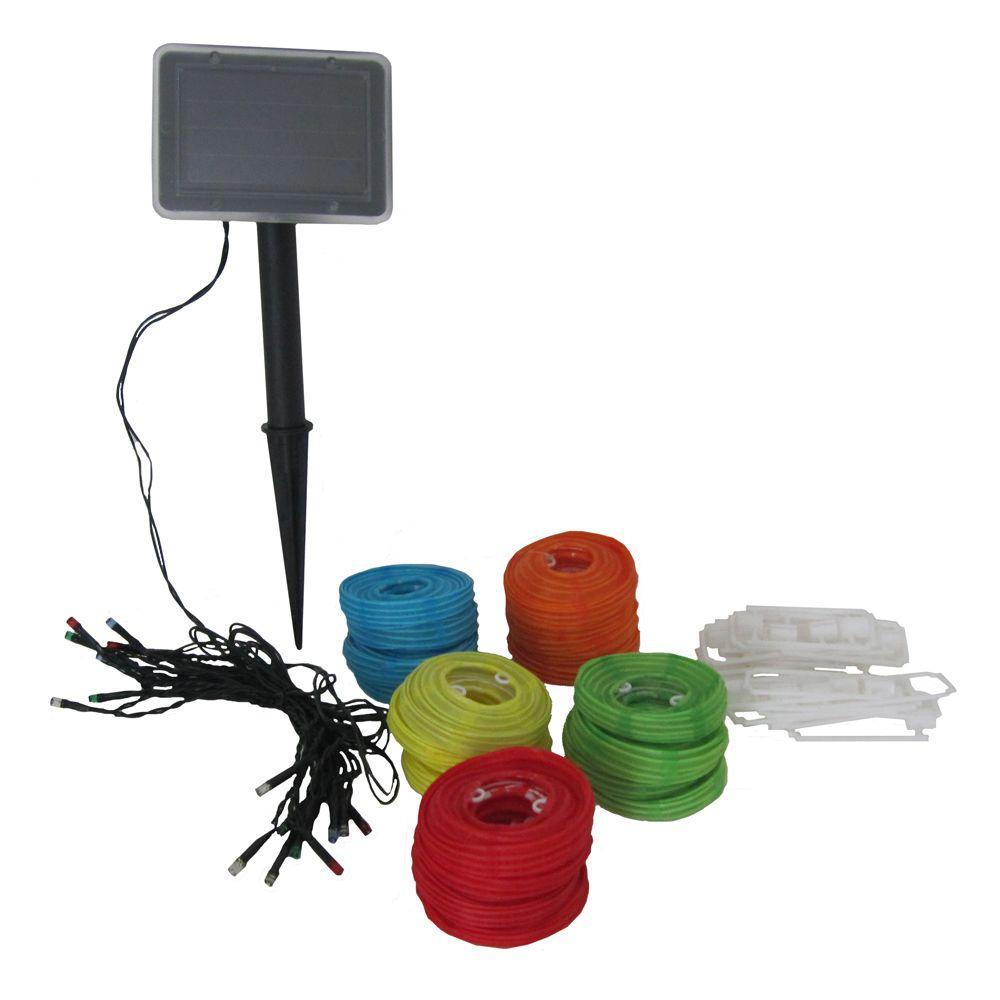 Smart Solar 20-Light LED Multi-Color Chinese Lantern String Light Set from Outdoor Light Sets