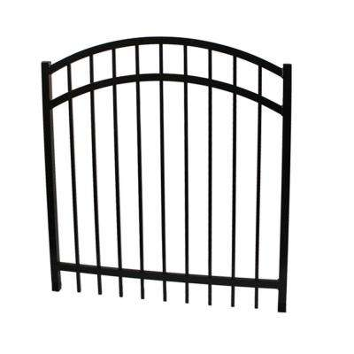 Vinnings 4 ft. W x 4 ft. H Black Aluminum Arched Fence Gate