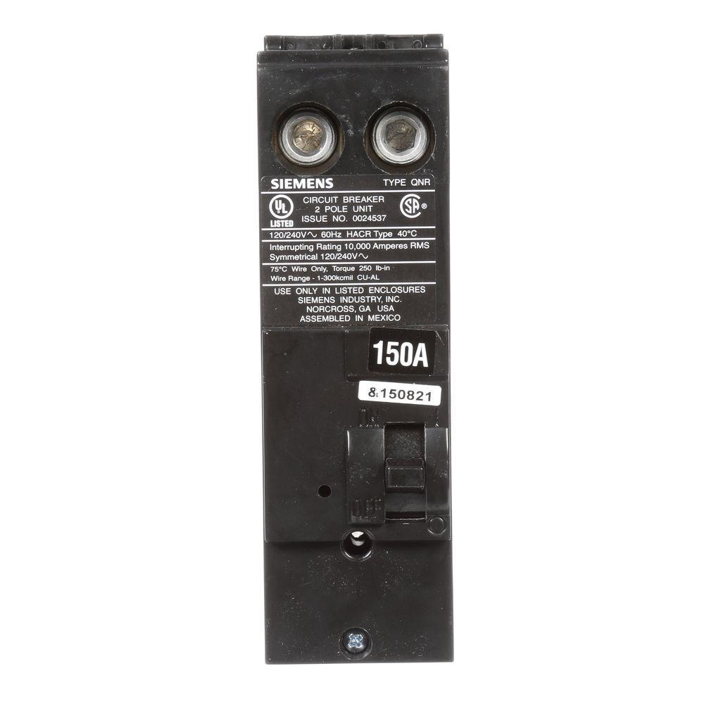 150 Amp Double-Pole 10kA Type QN Reverse Handle Circuit Breaker