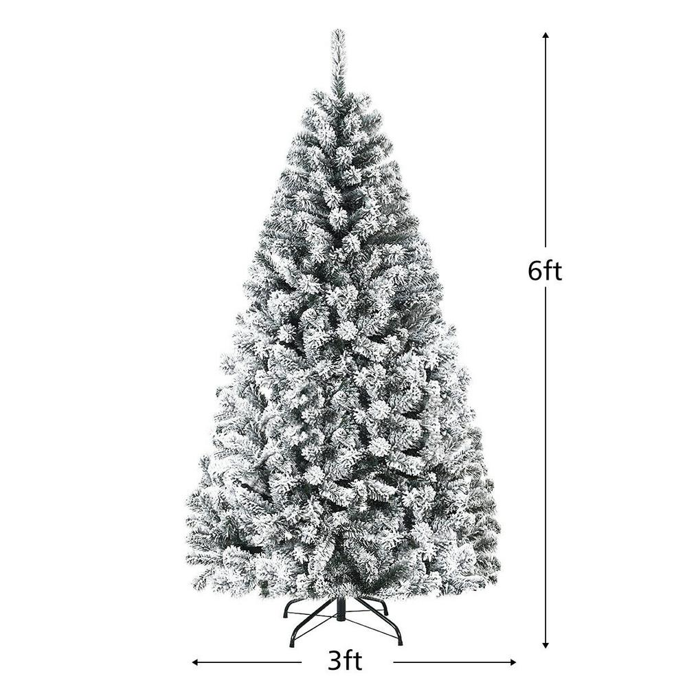 Christmas Tree Unlit Artificial Premium Hinged Spruce Full Tree 1000 Tips 6 feet