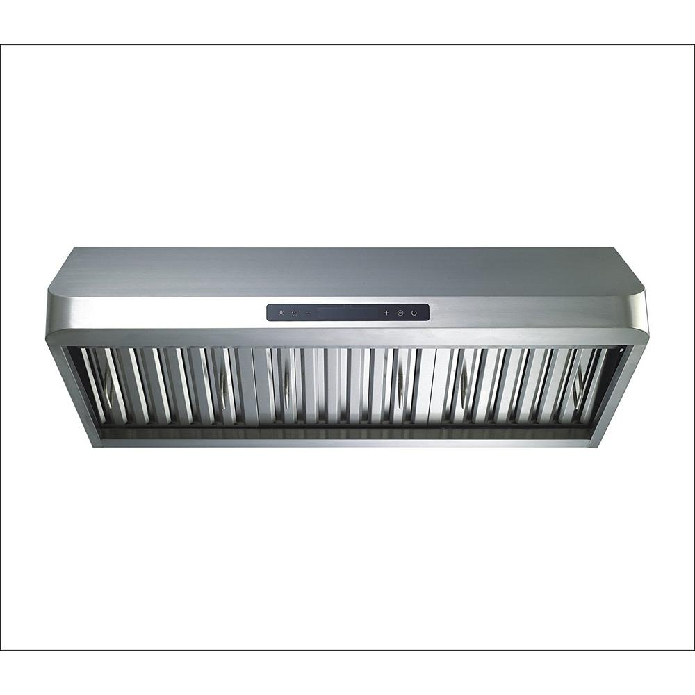 Winflo 36 In Ducted 600 Cfm Under Cabinet Range Hood Stainless Steel With Baffle