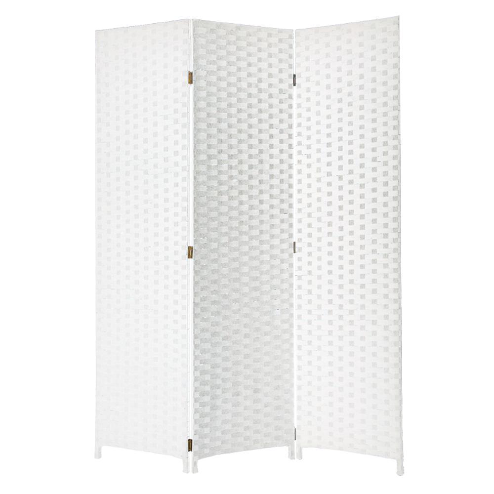 Pensacola 6 ft White 3 Panel Room Divider SG 68 White The Home Depot