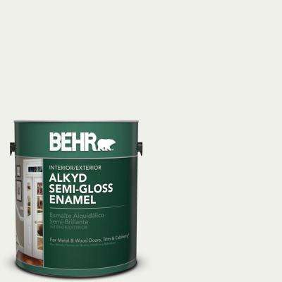 1 gal. #W-F-710 Hushed White Semi-Gloss Enamel Alkyd Interior/Exterior Paint