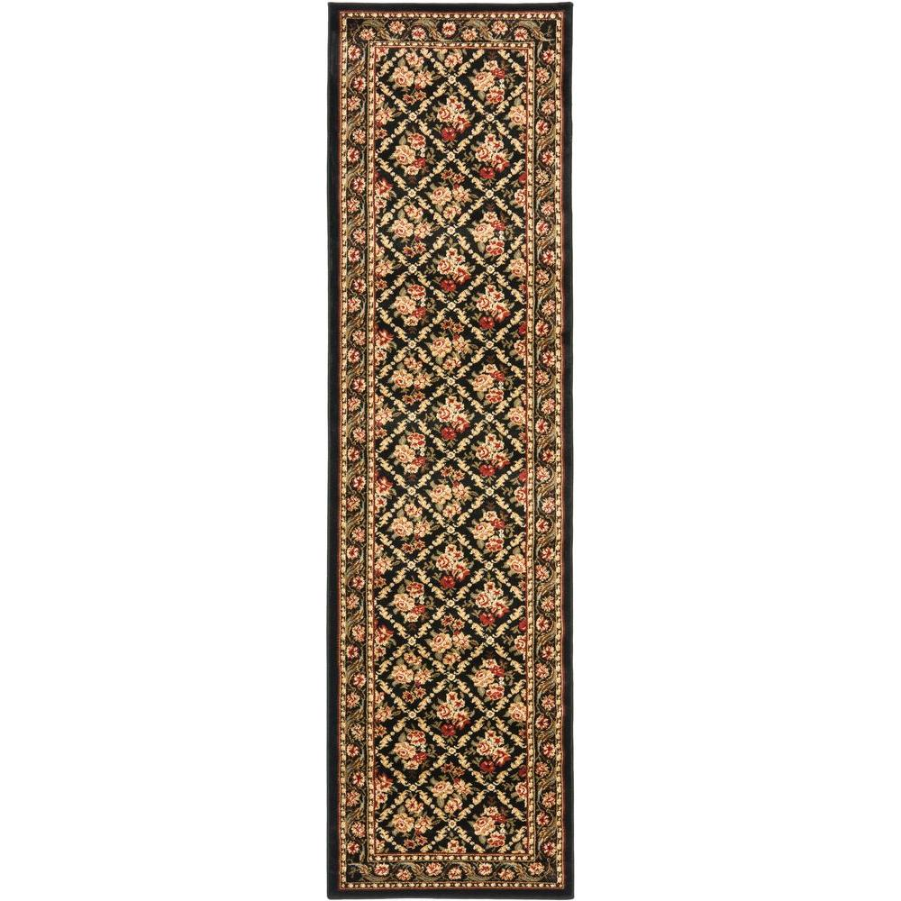 Lyndhurst Black 2 ft. 3 in. x 12 ft. Runner