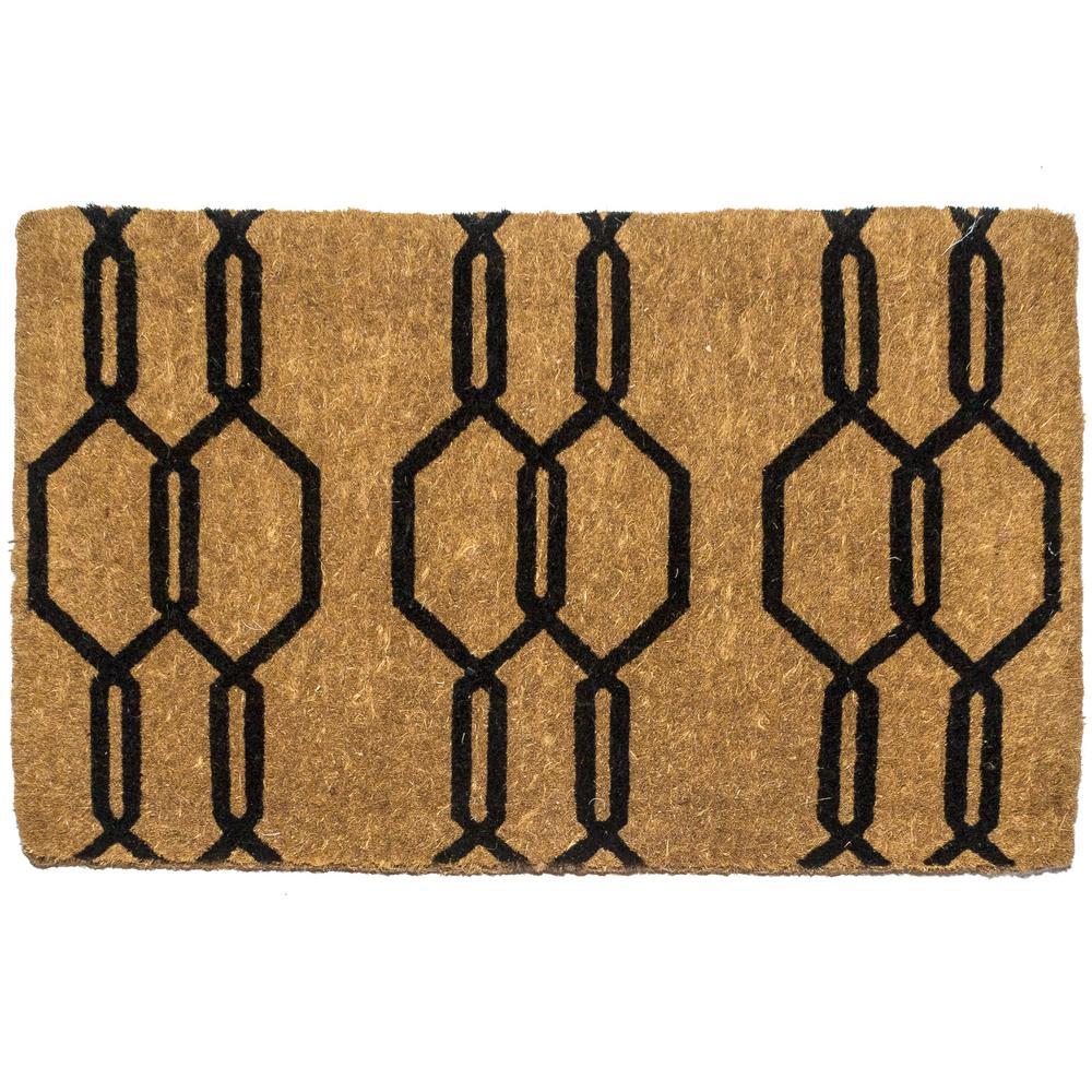 Gossamer 18 in. x 30 in. Extra Thick Hand Woven Coconut Fiber Door Mat