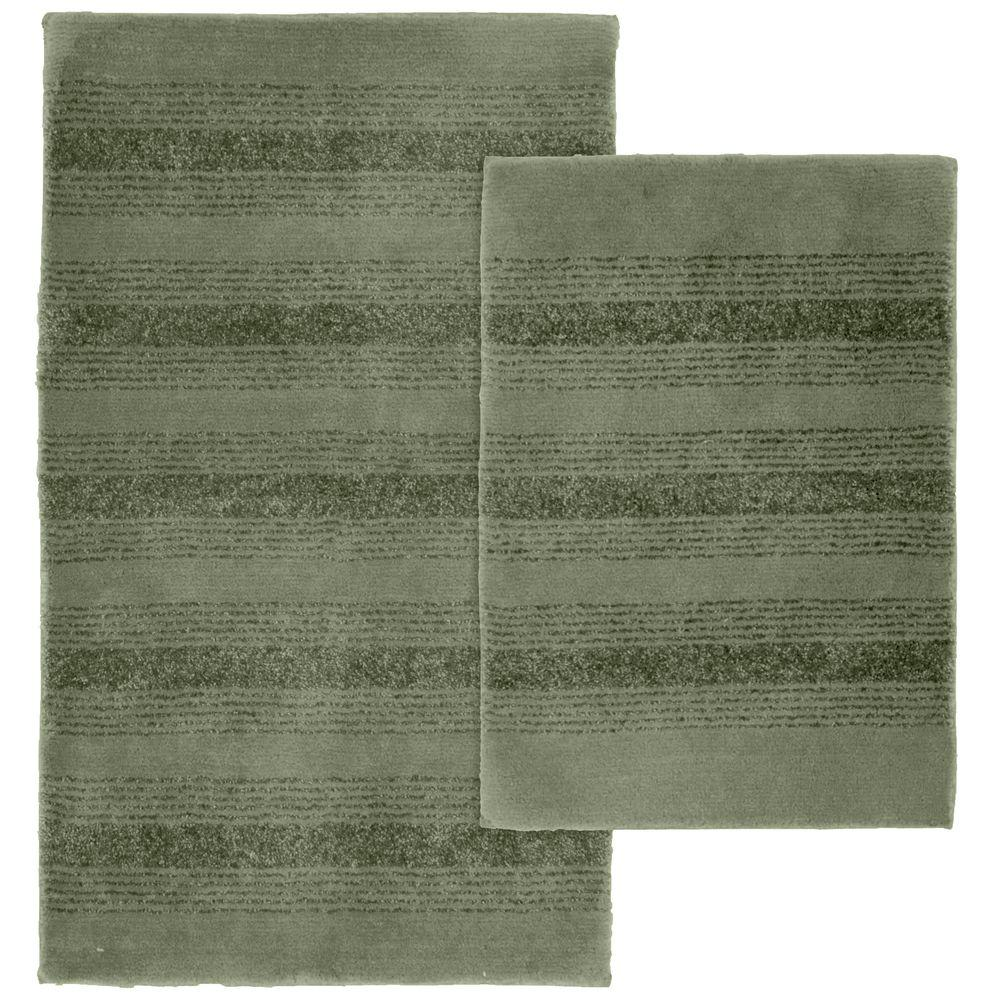 Garland Rug Essence Deep Fern 21 In X 34 In Washable Bathroom 2 Piece Rug Set Enc 2pc 08 The