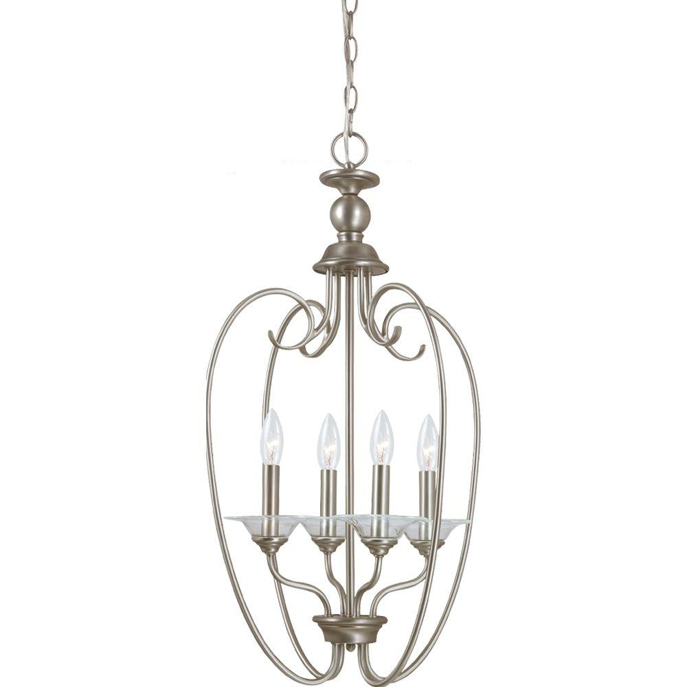 Sea Gull Lighting Lemont 4-Light Antique Brushed Nickel Hall/Foyer Pendant