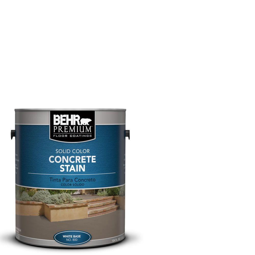 White Base Solid Color Interior Exterior Concrete Stain