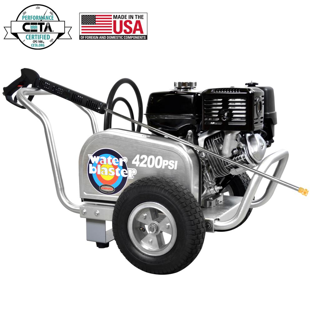 Aluminum WaterBlaster 4200 psi at 4.0 GPM HONDA GX390 with CAT