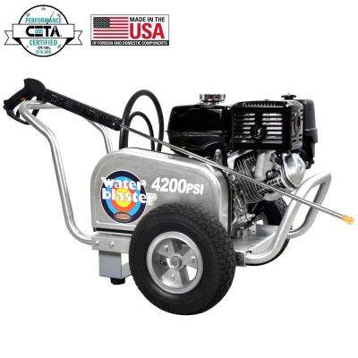 Aluminum WaterBlaster 4200 psi at 4.0 GPM HONDA GX390 with CAT Pump Professional Gas Pressure Washer (CARB)