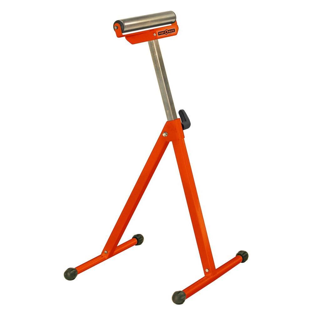 PORTAMATE 44 in. Adjustable Pedestal Roller Stand (2-Pack)