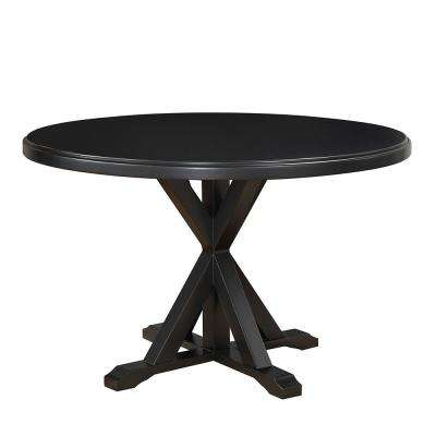 Monet Antique Black X-Base Dining Table