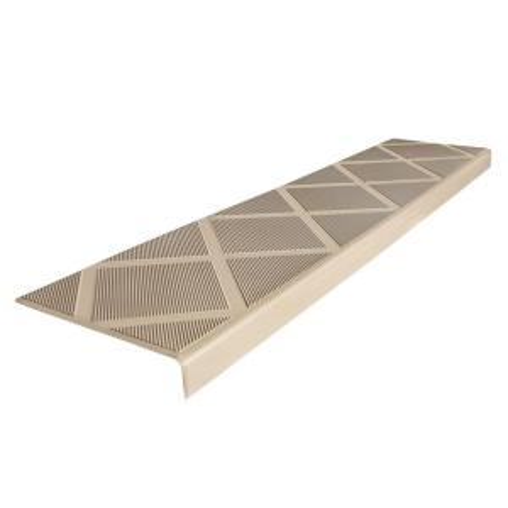 Composite Anti-Slip Stair Tread 48 in. Beige Step Cover