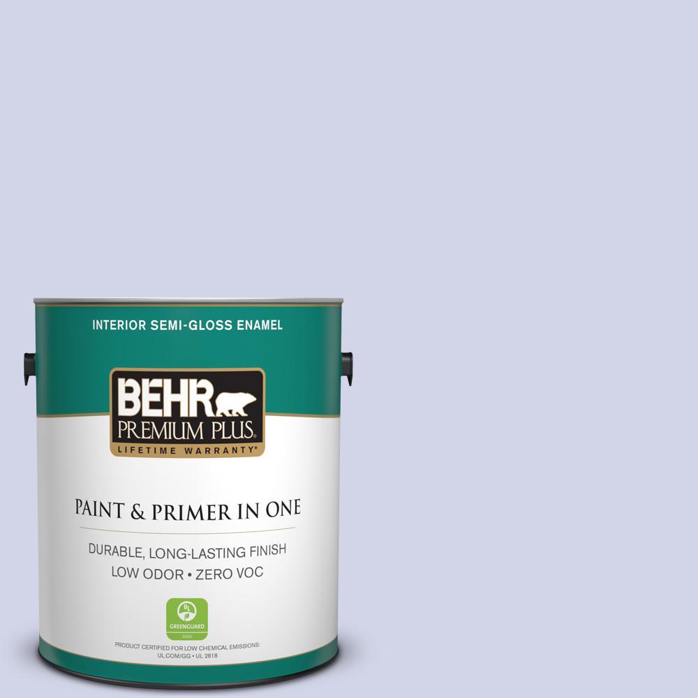 BEHR Premium Plus 1-gal. #T12-17 Violet Water Zero VOC Semi-Gloss Enamel Interior Paint