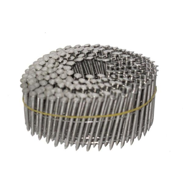 1-3/4 in. x 0.090 in. 15-Degree Ring Shank Stainless Steel Wire Coil Siding Nails (1200 per pack)