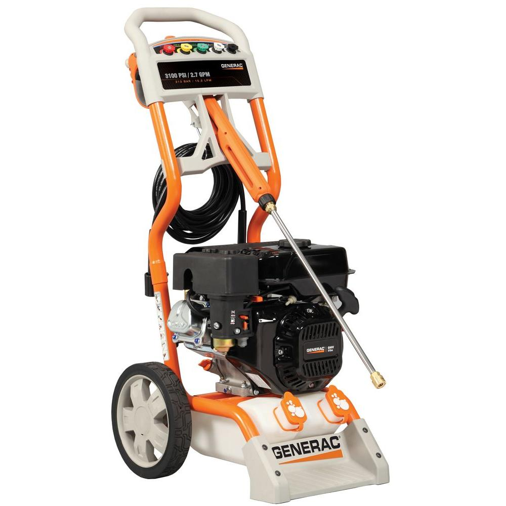 Generac 3100-PSI 2.7-GPM OHV Engine Axial Cam Pump Gas Powered Pressure Washer