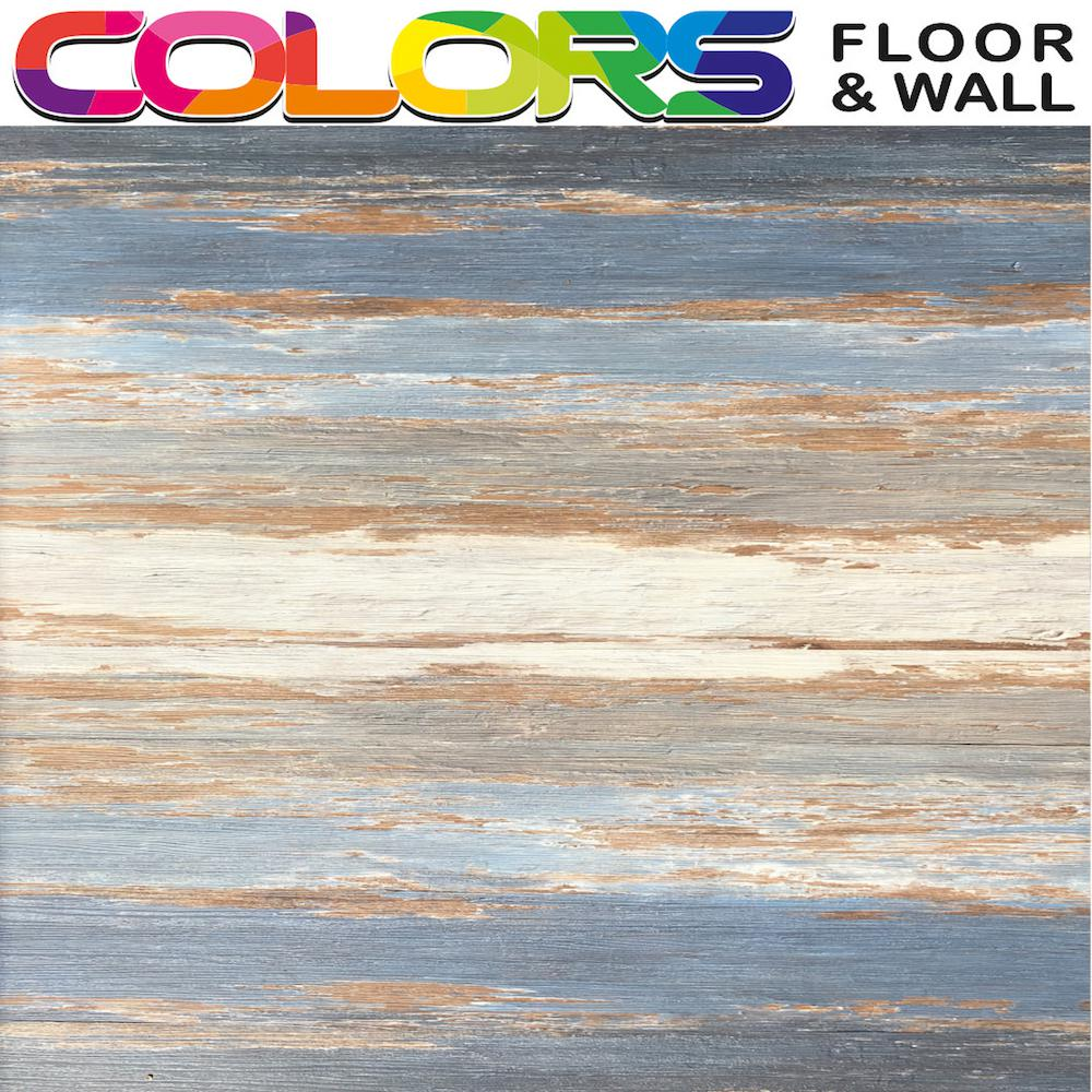 Deco Products Colors Floor and Wall DIY Old Blue Sea Aged 6 in. x 36 in. Painted Style Luxury Vinyl Plank (30 sq. ft. / case)