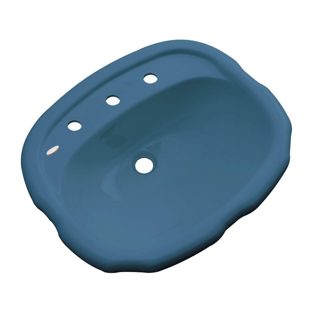 null Aymesbury Drop-In Bathroom Sink in Rhapsody Blue