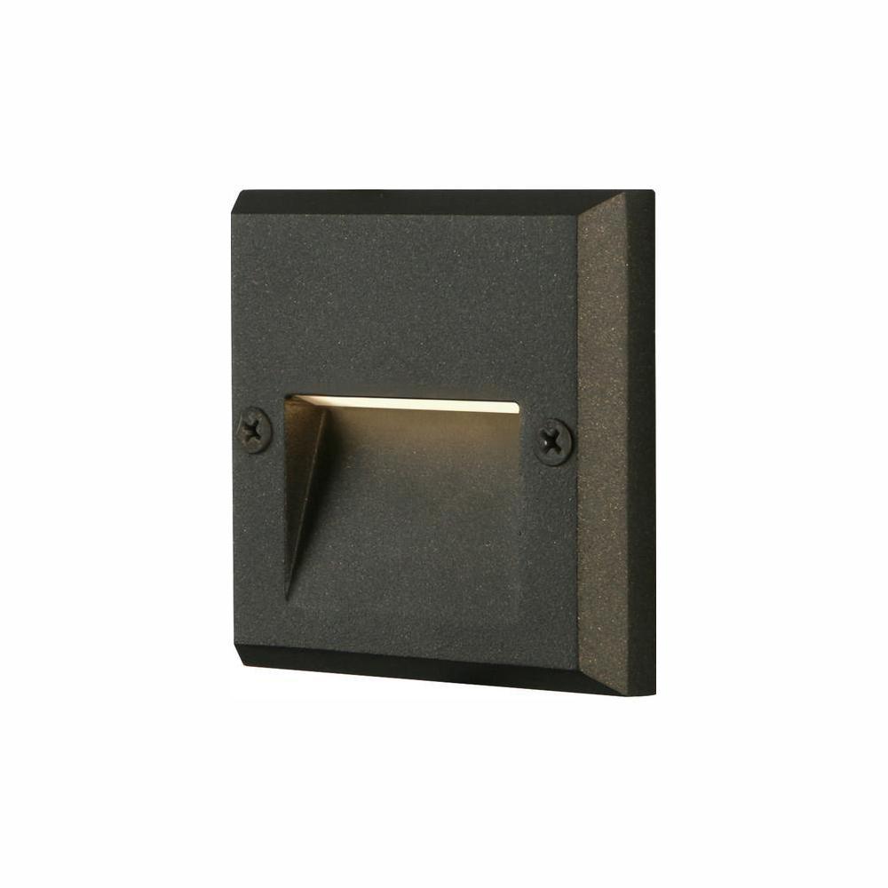 Black Integrated LED Deck Light