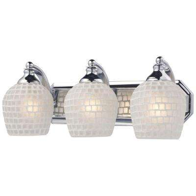 3-Light Polished Chrome Wall Mount Vanity Light