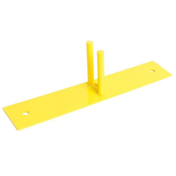 23.5 in. L x 4.75 in. W x 6.75 in. H Powder-Coated Steel Ground Base for Temporary Fencing
