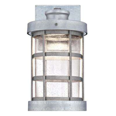 7-1/2 in. Brushed Nickel with Frosted Glass Shade and 2-1/4 in. Fitter and 4-3/4 in. Width