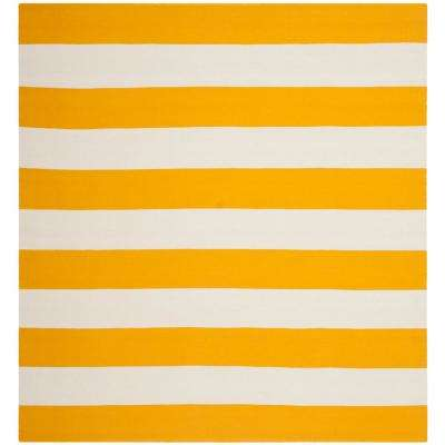 Montauk Yellow/Ivory 6 ft. x 6 ft. Square Area Rug