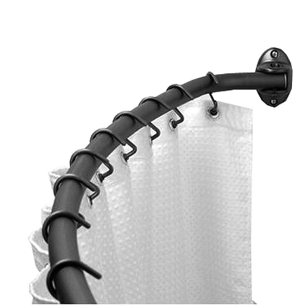 Speakman 60 in. Curved Screw Mounted Shower Rod in Oil Rubbed Bronze-DISCONTINUED