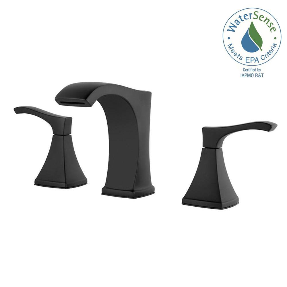 black bathroom faucets. Widespread 2-Handle Bathroom Faucet In Matte Black Faucets I