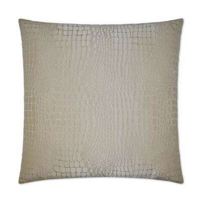 Tillie Ecru Feather Down 24 in. x 24 in. Decorative Throw Pillow