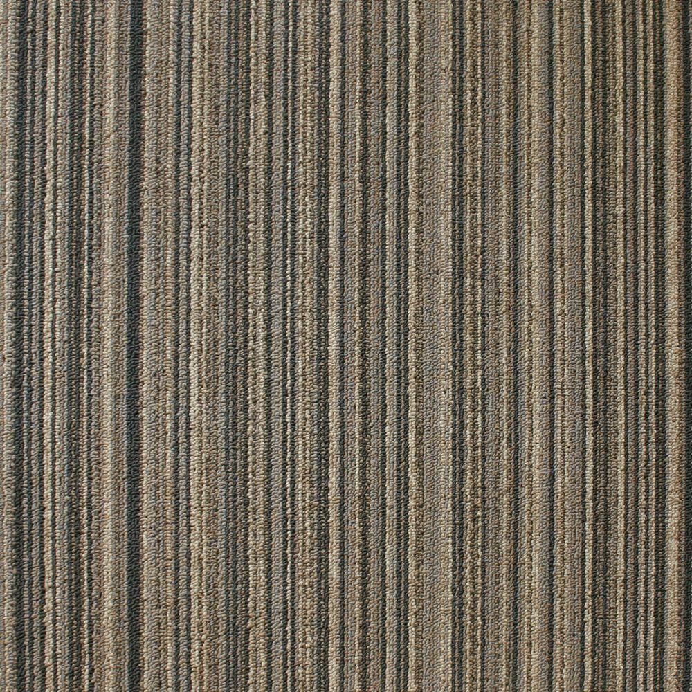 EuroTile Crown Heights Sand Loop 19.7 in. x 19.7 in. Carpet Tile (20 Piece/Case)