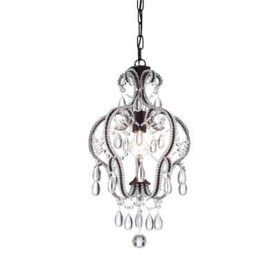 1-Light Bronze Calilly Chandelier with Antique Bronze Shade