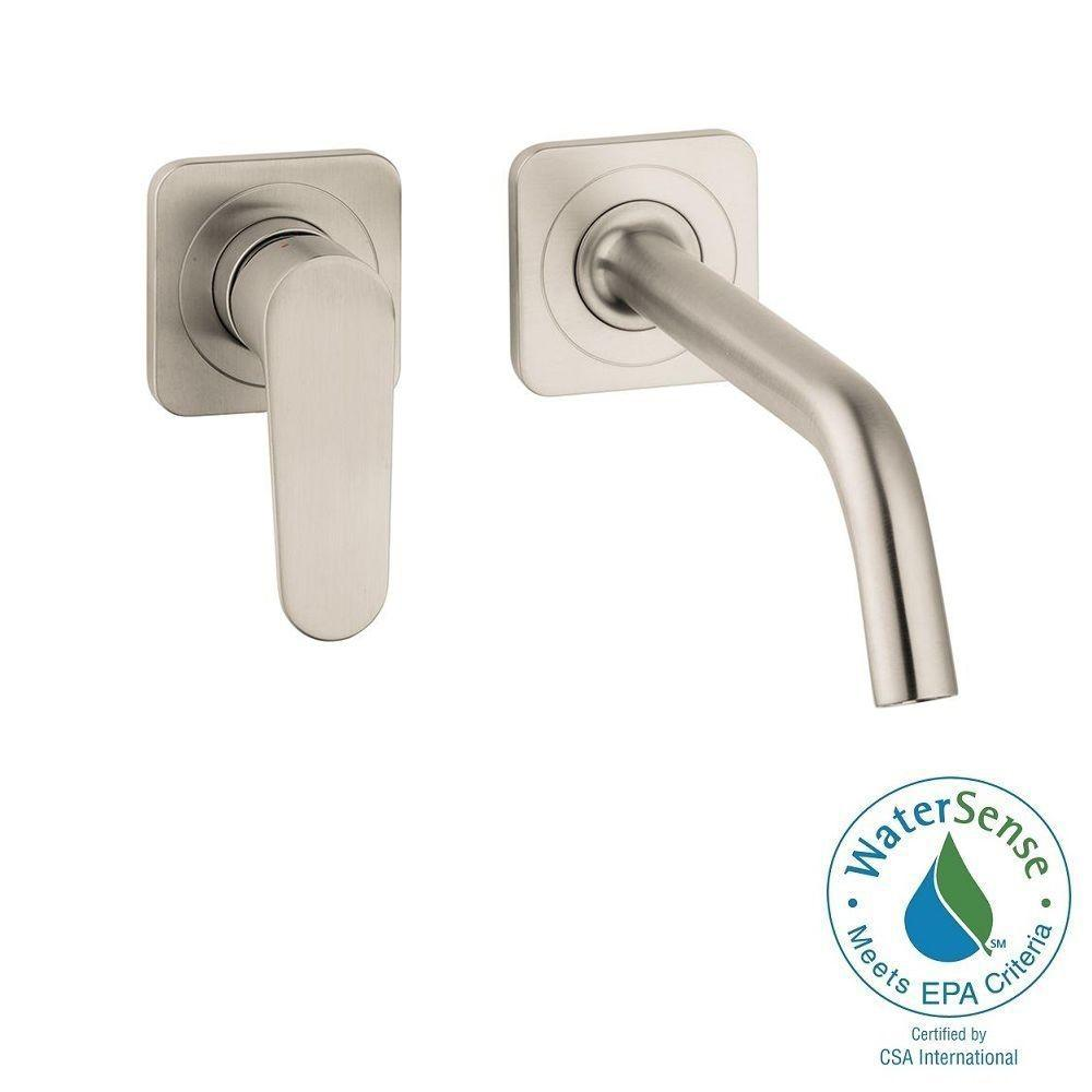 Citterio M 1-Handle Wall-Mount Bathroom Faucet in Brushed Nickel