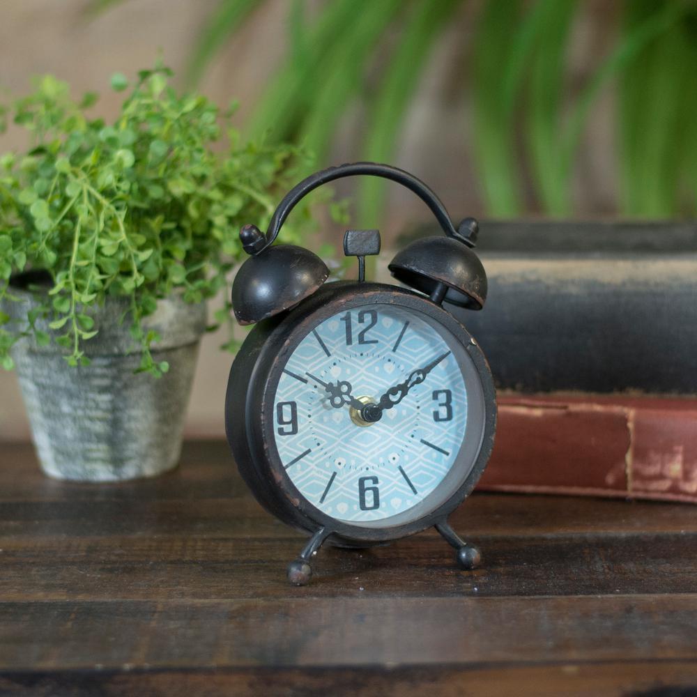 Metal Faux Alarm Clock Mt2073 The Home Depot