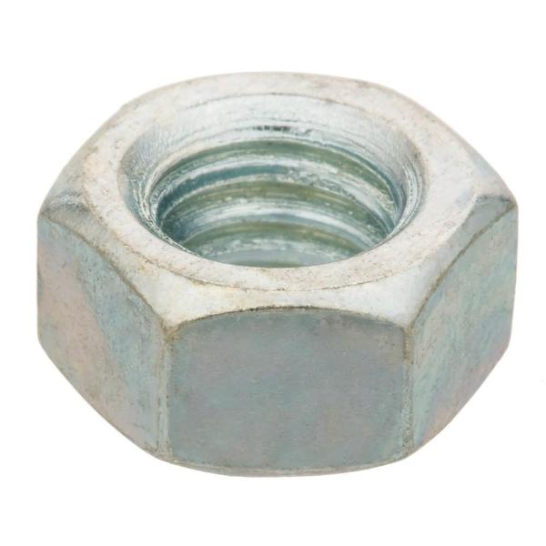 3/8 in. -16 tpi Zinc-Plated Hex Nut (2 per Pack)