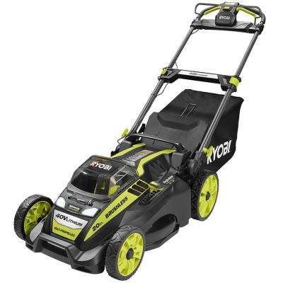 20 in. 40-Volt Brushless Lithium-Ion Cordless Battery Self Propelled Lawn Mower with 5.0 Ah Battery and Charger Included