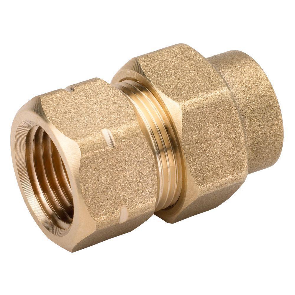 Brass CSST X CSST Union HOME-FLEX 1//2 In
