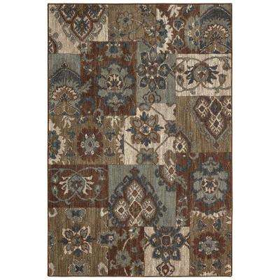 Nuka Brown 8 ft. x 10 ft. Indoor Area Rug