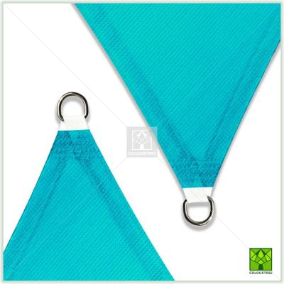 8 ft. x 8 ft. 190 GSM Turquoise Equilateral Triangle Sun Shade Sail Screen Canopy, Outdoor Patio and Pergola Cover