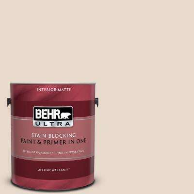 1 gal. #N240-1 Cascade Beige Matte Interior Paint and Primer in One