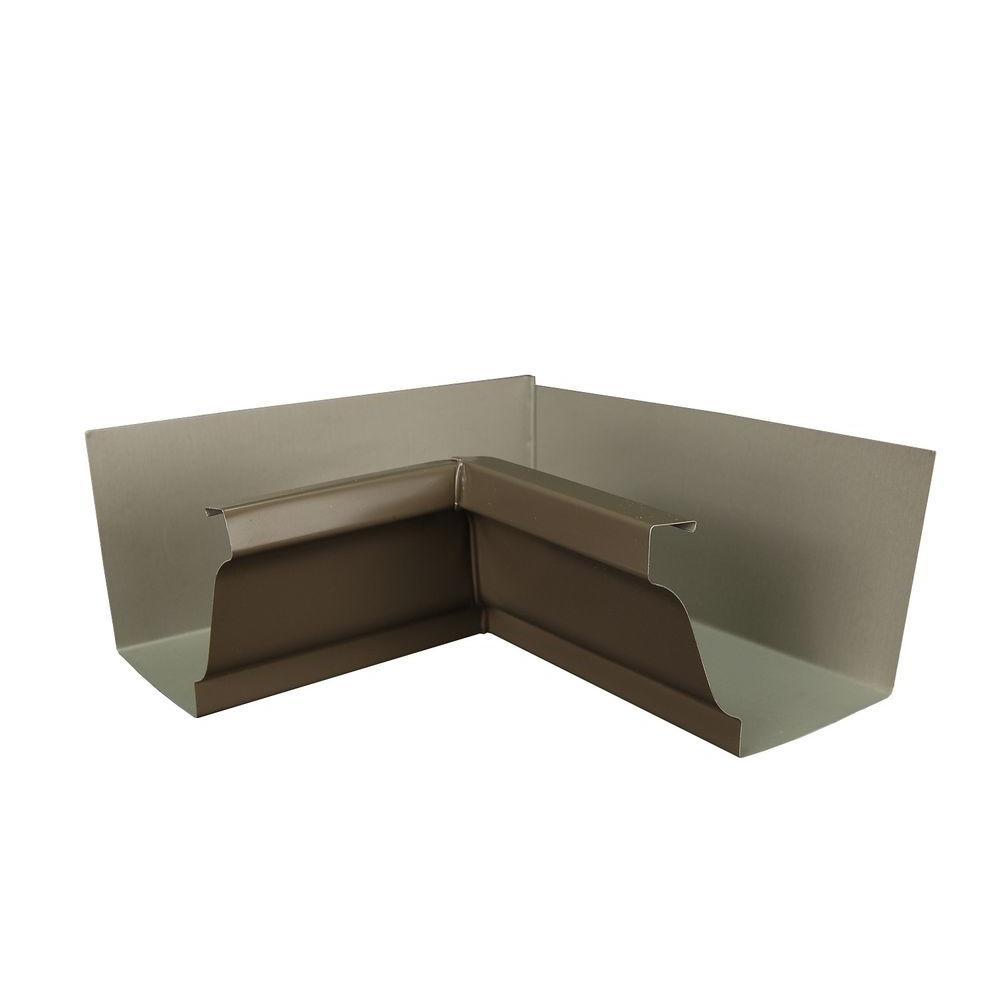 6 in. Terra Bronze Aluminum Inside Box Gutter Miter