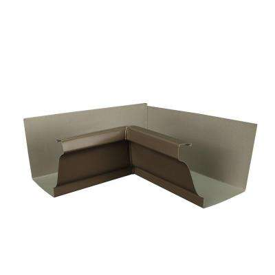 6 in. Terra Bronze Aluminum Inside Box Gutter Miter
