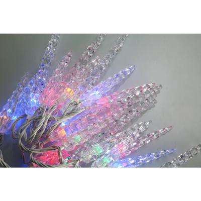 Bundle - 80 Light Multi- Color Icicle LED Light with Wireless Smart Control + 80 Light Add-on