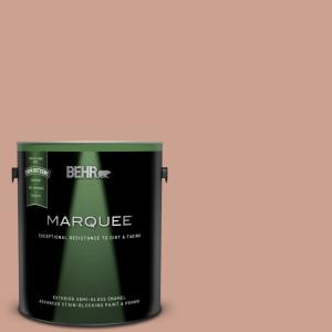 Behr Marquee 1 Gal 220f 4 Sombrero Tan Semi Gloss Enamel Exterior Paint And Primer In One 545401 The Home Depot